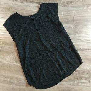 ❄️ 3/$25 Black Lace Sleeveless Top